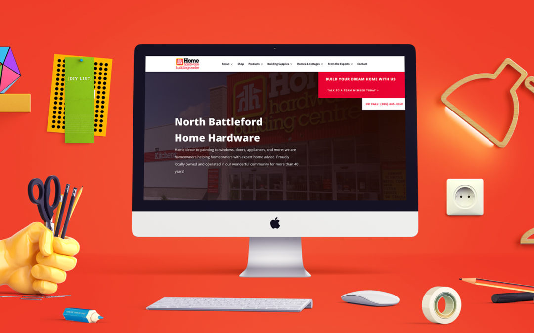Home Hardware North Battleford HomePage image on computer