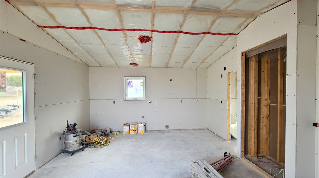 Drywalled interior of RTM Home Hardware Home Building Centre