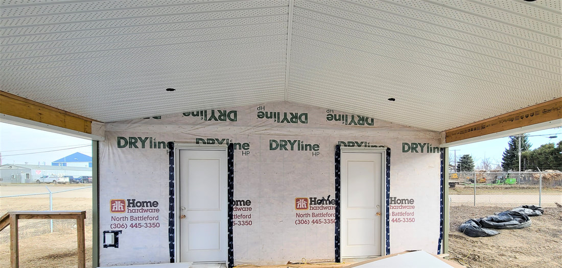 Drywalled and papered ready to move home