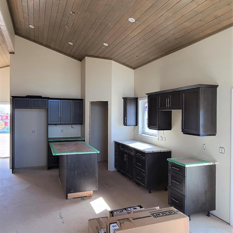 Kitchen cabinets RTM under construction