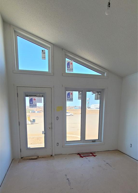 Angular windows and door RTM