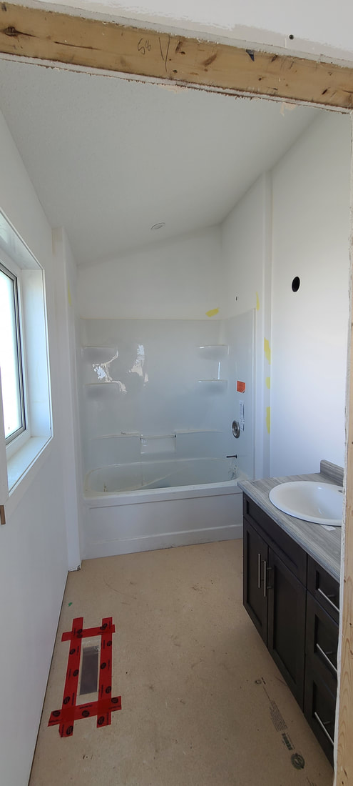 Bathtub under construction