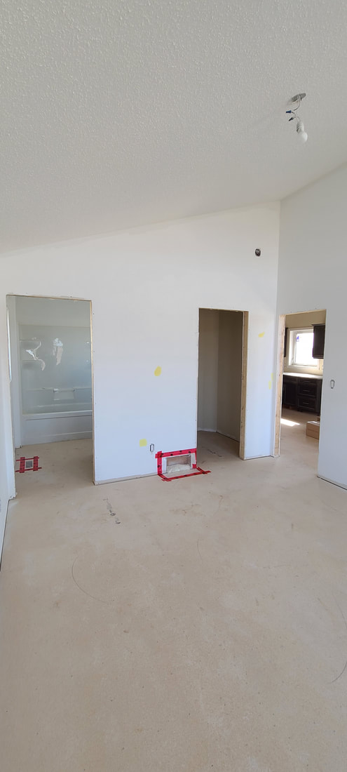 Drywalled living space cottage RTM