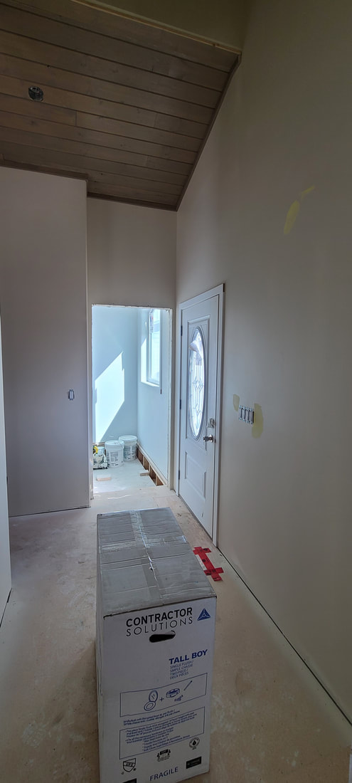 Front entry way of RTM home under construction