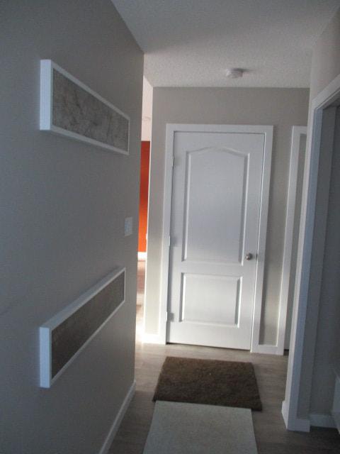 Hallway finished flooring, trim, doors inside RTM
