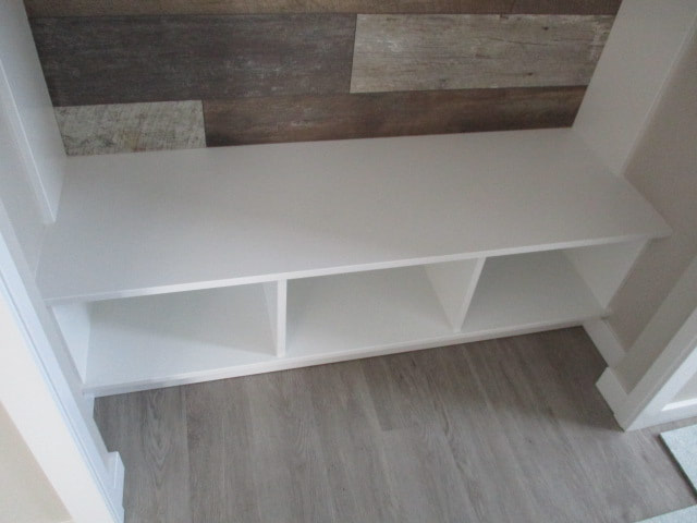 White shelves in a house