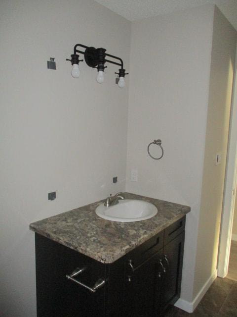Custom bathroom vanity inside RTM