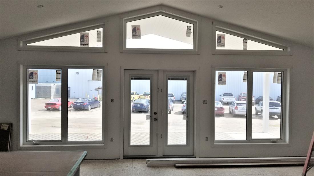 Windows and doors inside an RTM