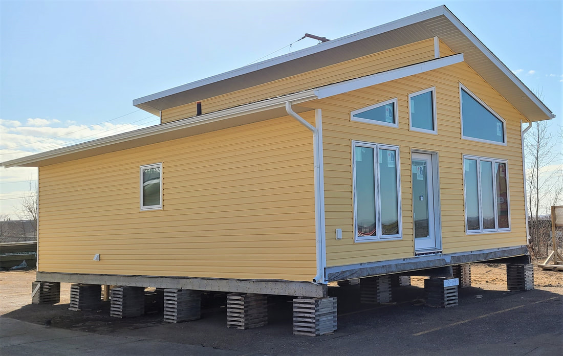 Side view of yellow sided RTM outside