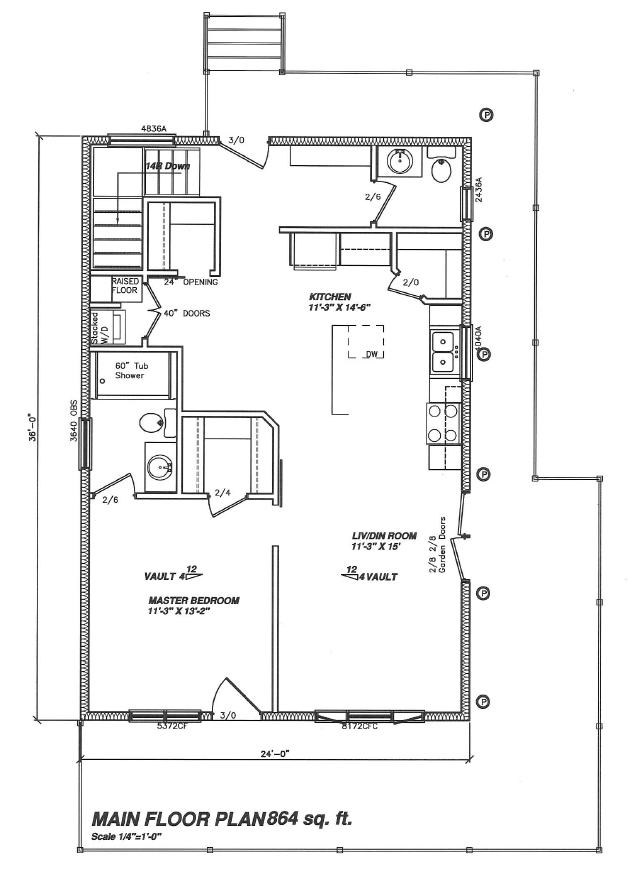 Floor plan of RTM Home Hardware