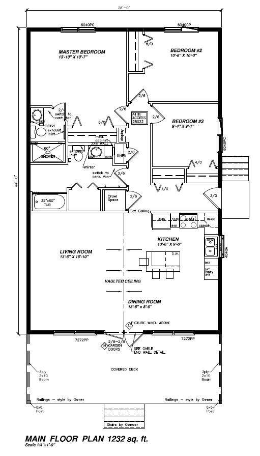Floor plan for RTM