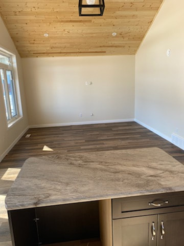 Looking into finished living room from kitchen in RTM