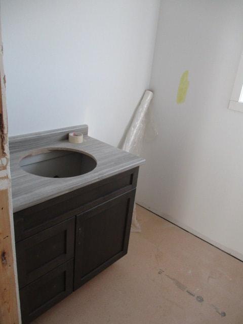 Bathroom sink in custom RTM build