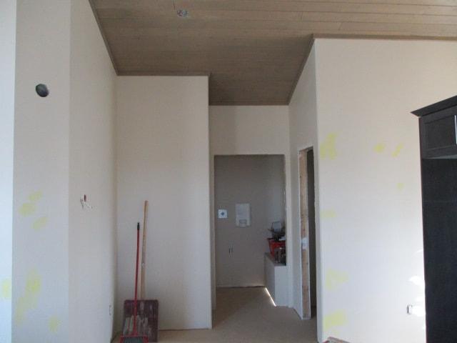 Inside living space of RTM