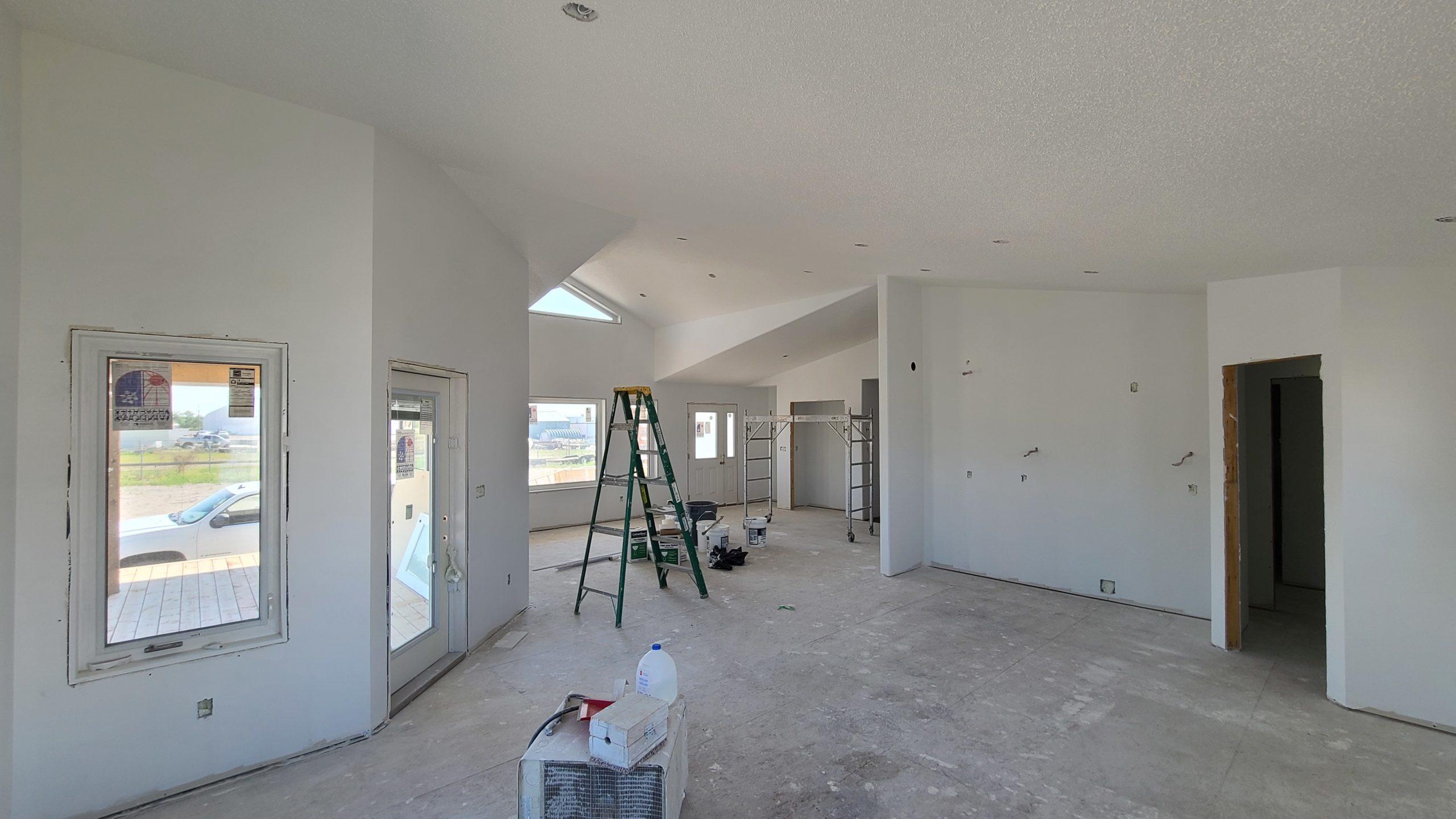 Dining/Kitchen RTM under construction