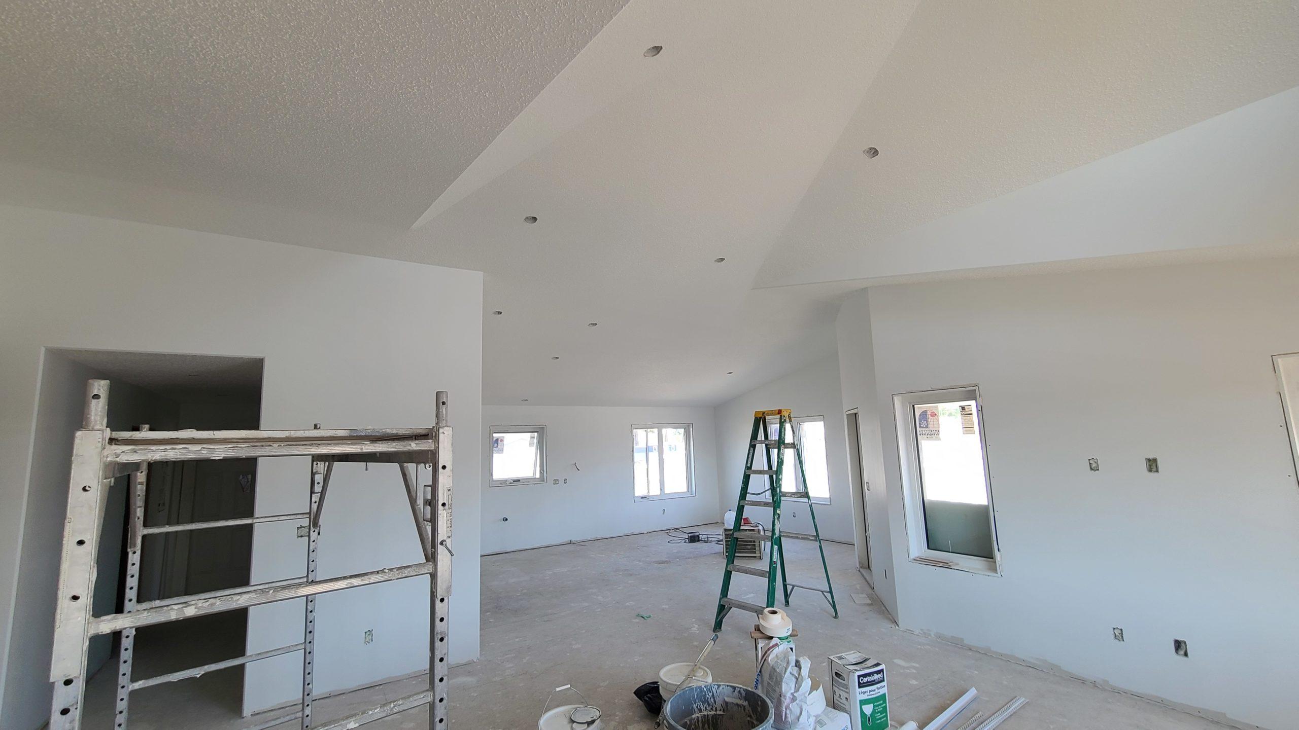 Front Door View - Living/Dining/Kitchen RTM under construction