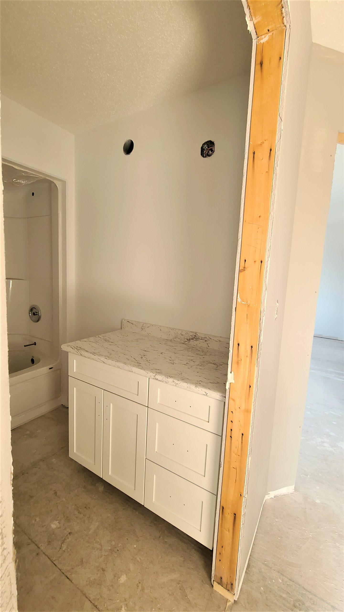 Main Bathroom - Cabinet RTM under construction
