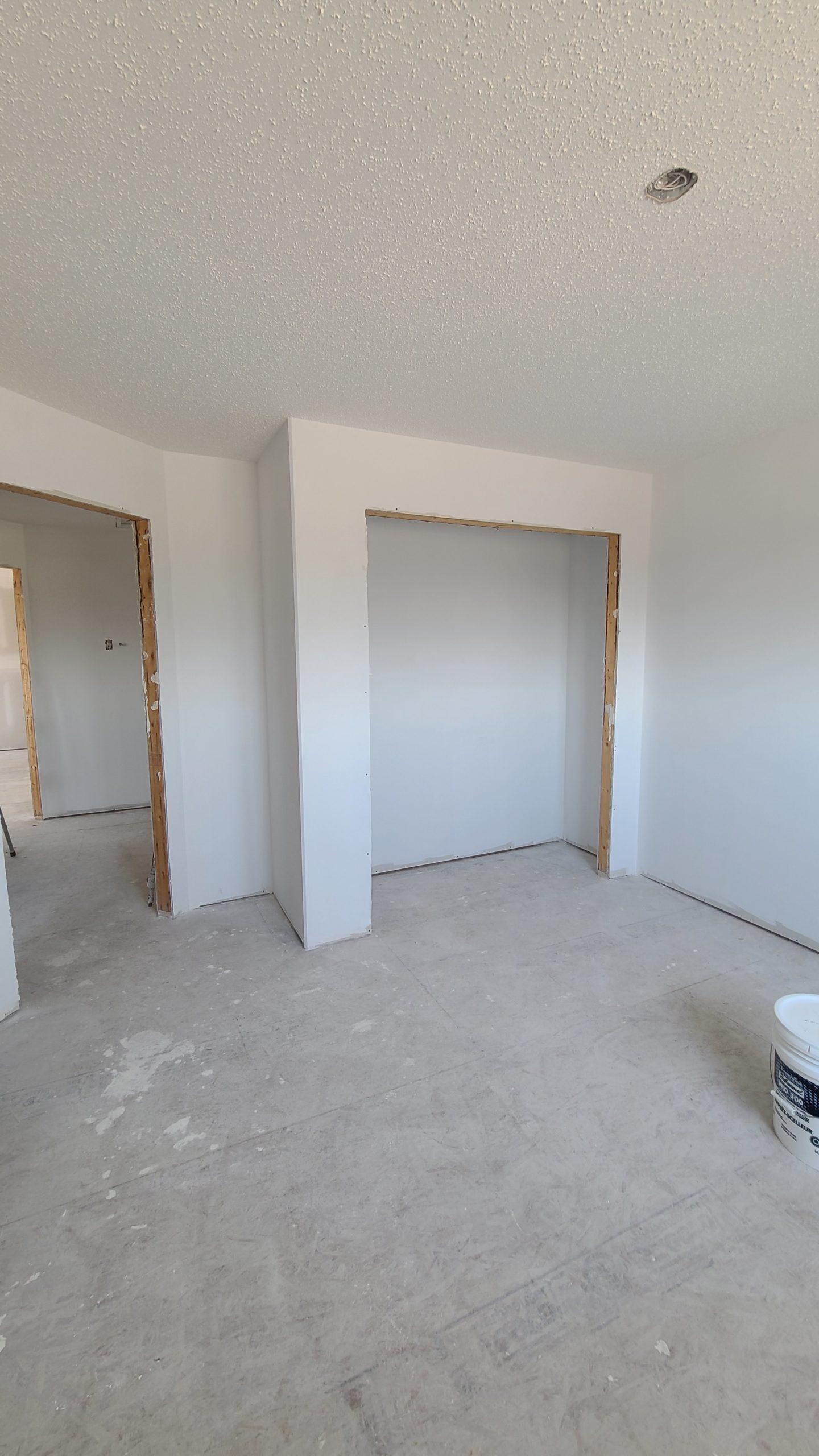 Spare Bedroom - Closet RTM under construction