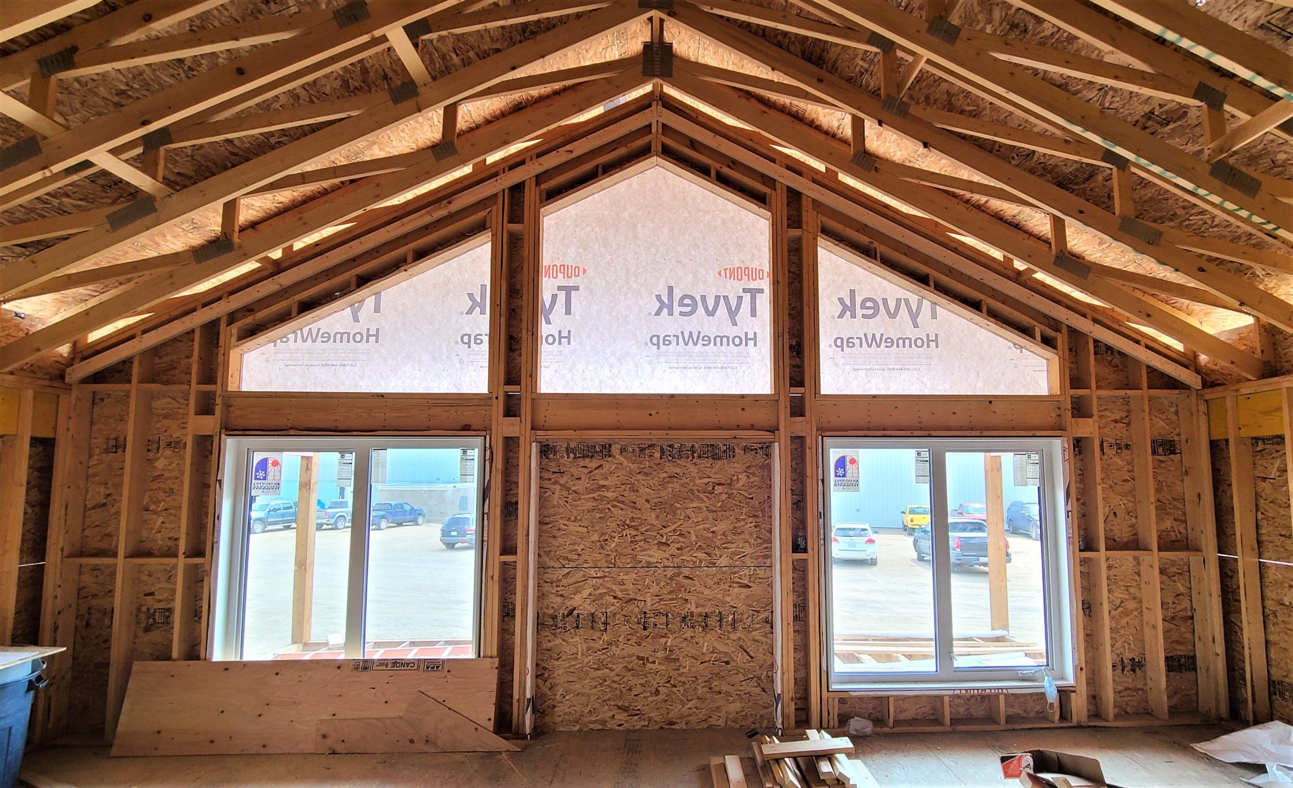 Inside view - Livingroom/Kitchen RTM in construction